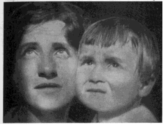 Fig. 47. Woman Aged 37, Child Aged 4, Both Looking Directly at Sun Without Discomfort